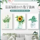 DIY數字油畫彩繪花卉綠植手繪填色減壓北...
