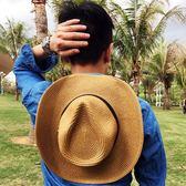 草帽男士夏天沙灘帽牛仔帽女夏季戶外遮陽帽太陽帽子釣魚帽防曬帽 時尚潮流
