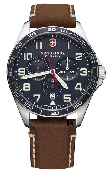 VICTORINOX 瑞士維氏 SWISS ARMY (VISA-241854) 三眼計時男錶 藍/42 mm