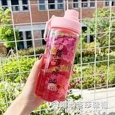 吸管杯女簡約清新森系水杯網紅創意潮流玻璃杯便攜學生可愛磨砂杯 時尚芭莎