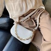 手提包 今年流行小包包女包2021新款潮時尚簡約單肩腋下包百搭女士法棍包 艾維朵