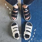涼鞋男士夏季2020沙灘情侶ins涼拖鞋青少年運動魔術貼休閒潮 町目家