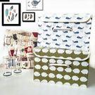 收納盒    布藝時尚大容量棉麻收納箱(23L) 刺蝟 鯨魚 文具 衣物收納  【BNA030】-收納女王
