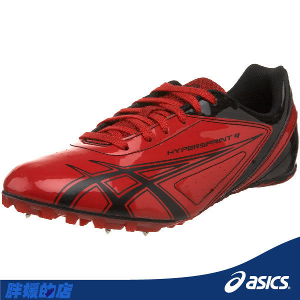 ASICS亞瑟士-HYPER SPRINT 4 田徑釘鞋(紅) 附5MM釘。(23/23.5號)G100Y-2390
