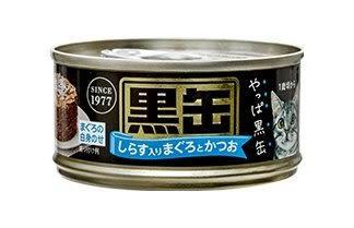 *KING WANG*【單罐】日本愛喜雅AIXIA【黑缶】黑罐系列 貓罐頭 80g/罐 七種口味可選 貓主食罐