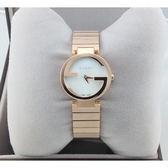 GUCCI Interlocking-雙G 玫瑰金YA133515時尚女錶-天然珍珠貝玫瑰金29mm