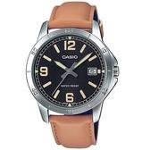 CASIO 卡西歐 手錶 專賣店 MTP-V004L-1B2 簡約指針石英錶 皮革錶帶 日常生活防水 日期顯示 MTP-V004L