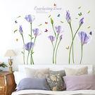 一般 壁貼 SK9112A 紫色綻放花 ...