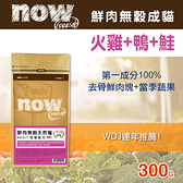 【毛麻吉寵物舖】Now! 鮮肉無穀天然糧 成貓配方-300克-WDJ推薦 貓糧/貓飼料