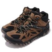 Merrell 戶外鞋 All Out Blaze Vent Mid GTX 運動鞋 Gore-Tex 防水 越野 登山 咖啡 黑 男鞋【ACS】 ML35895