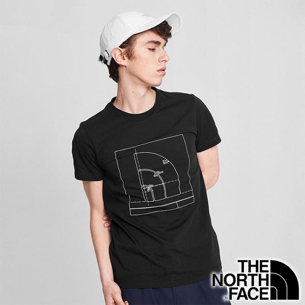 【THE NORTH FACE 美國】男 快乾圓領短袖 T恤『黑』NF0A4998 戶外 登山 時尚 休閒