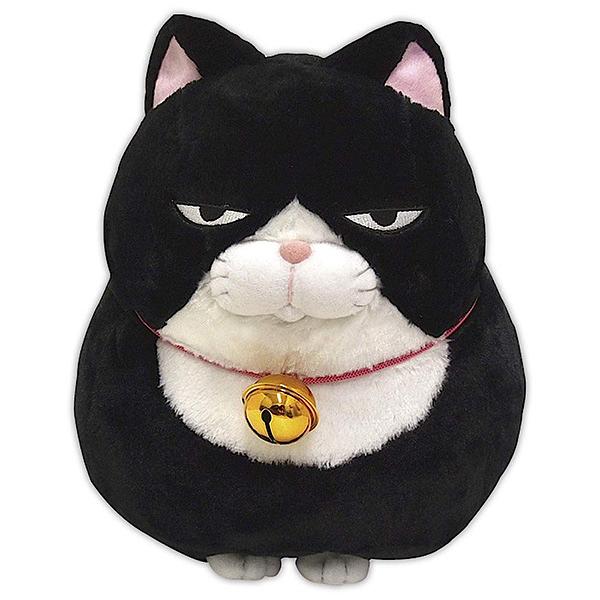【療癒貓咪 大絨毛娃娃】貓咪 大絨毛玩偶 娃娃 黑白貓 日本正版 該該貝比日本精品 ☆