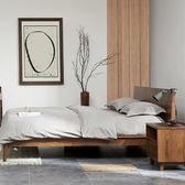 床架 現代風1.5m實木床白橡木床架臥室主臥成人1.8米雙人床