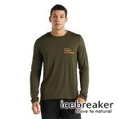 【icebreaker】Tech Lite II 男 羊毛圓領長袖上衣『橄欖綠』柔軟 舒適 羊毛 吸濕 排汗 抑味 控溫 0A59IQ
