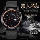 歐力嘉手錶男復古時尚防水學生簡約商務石英錶潮皮質男士腕錶xw