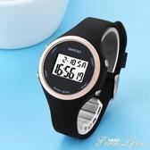 手錶男孩女孩學生電子錶 LED女童運動防水夜光錶女 考試手錶  范思蓮恩