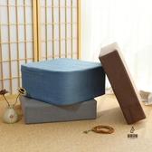 坐墊亞麻地板可拆洗冬季加厚蒲團日式方形客廳臥室榻榻米茶幾坐墊【愛物及屋】