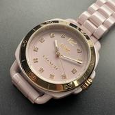 星晴錶業-COACH蔻馳女錶,編號CH00002,34mm金色錶殼,粉紅錶帶款