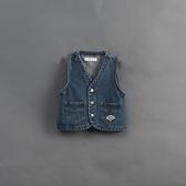 Queen Shop【02080097】童裝 親子系列 刷色口袋造型牛仔背心 S/M/L*現+預*