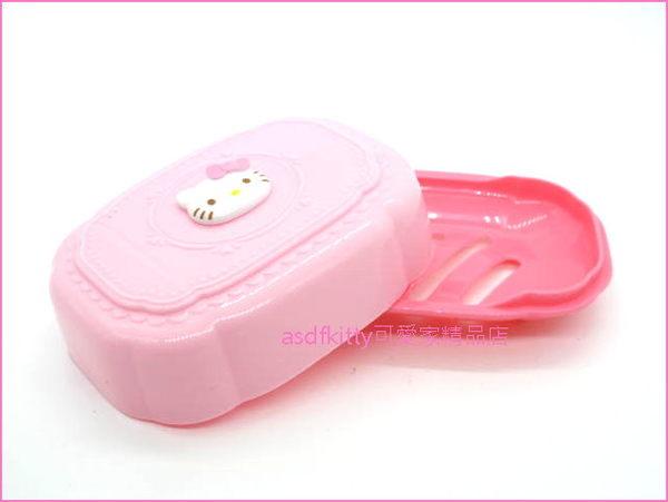 KITTY立體臉粉紅色有蓋肥皂盒/香皂盒/肥皂盤-有排水孔-也可放洗衣刷.菜瓜布-日本正版