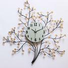 大號客廳掛鐘石英鐘錶創意歐式現代田園裝飾靜音臥室鐵藝時尚  SSJJG【時尚家居館】