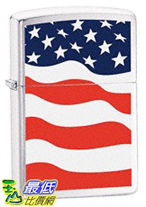 [美國直購 ShopUSA] Zippo Brushed Chrome American Flag Lighter 24375 $1046