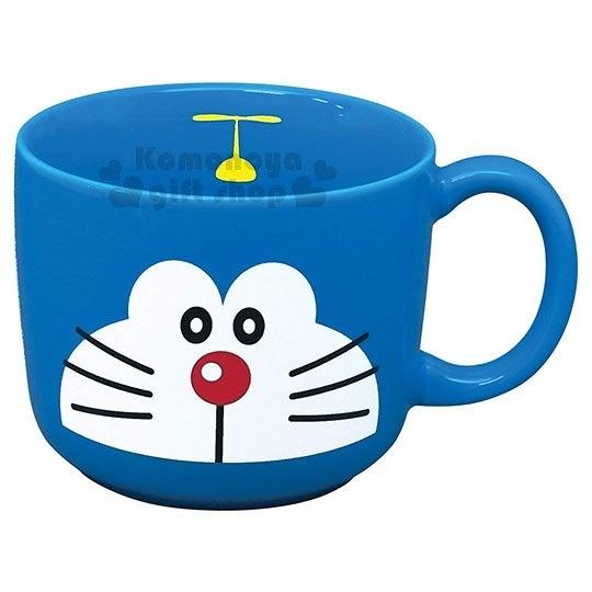〔小禮堂〕哆啦A夢 日製陶瓷馬克杯《藍.大臉》咖啡杯.日本金正陶瓷 4964412-00961