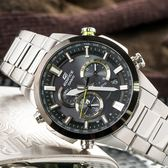 EDIFICE 雙錶盤太陽能電波錶 EQW-T640YDB-1A EQW-T640YDB-1ADR 熱賣中!