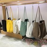 包包軟皮購物袋托特包大單肩包韓國大容量女包【聚可愛】
