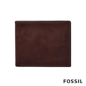 FOSSIL DERRICK 經典款LOGO壓印皮夾-勃艮第紅 ML4153014