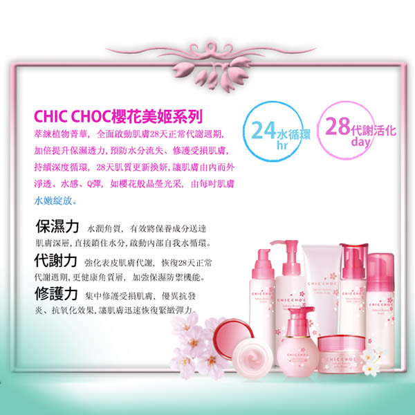 CHIC CHOC 櫻花潔顏油 200ml