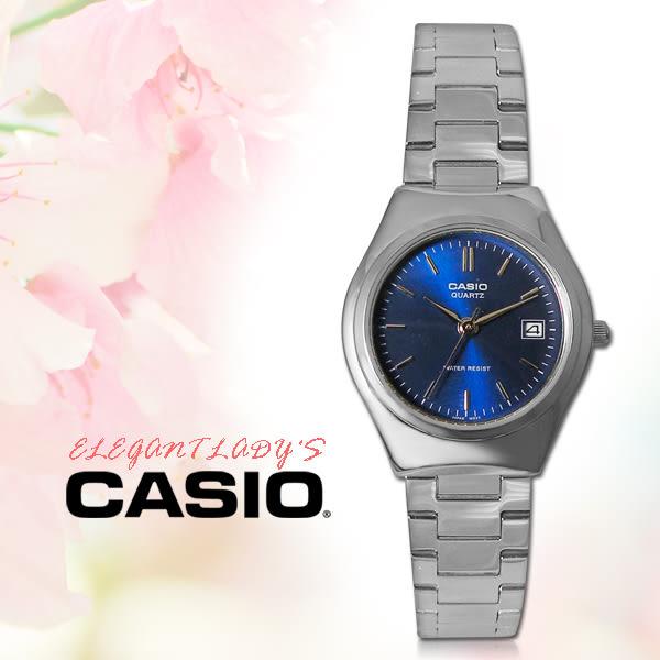 CASIO 手錶專賣店 CASIO 手錶 LTP-1170A-2A 防水 不鏽鋼 藍面 三折疊錶扣 全新