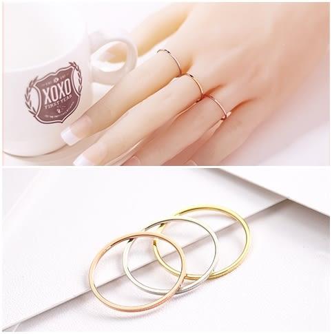 316L醫療鋼 極細弧形素面 戒指尾戒指節戒線-金、銀、玫瑰金 防抗過敏 不退色