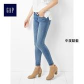 Gap女裝 緊身彈力女士小腳牛仔褲鉛筆褲 窄管褲女 240890-中度靛藍