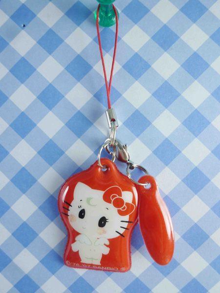 【震撼精品百貨】Hello Kitty 凱蒂貓~KITTY手機吊飾-可擦吊飾-Q比紅色