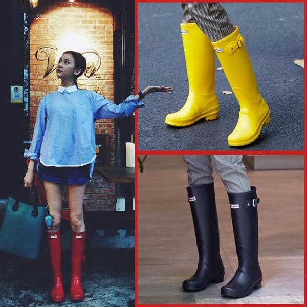 雨鞋女士水鞋高筒長筒時尚款外穿膠鞋防水防滑套鞋成人水靴雨靴女 初色家居館