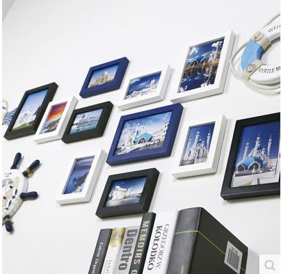 精美相框牆 實木相框組合 現代簡約超大客廳照片牆相框掛牆歐式