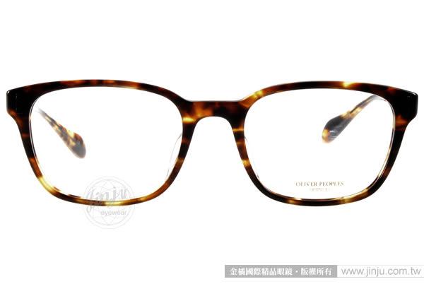 OLIVER PEOPLES 光學眼鏡 MAXTON 1407 (亮琥珀) 時尚英倫風百搭款 # 金橘眼鏡