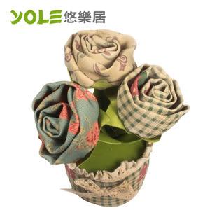 【YOLE悠樂居】薔薇-花藝造型香炭包(2入) #1035055