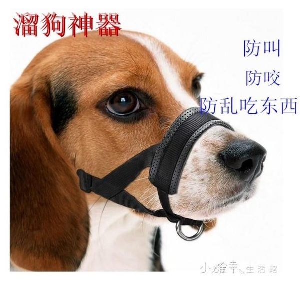 狗狗嘴套止叫防叫防咬中大型犬止吠金毛狗口罩防亂吃嘴罩寵物用品 小確幸生活館