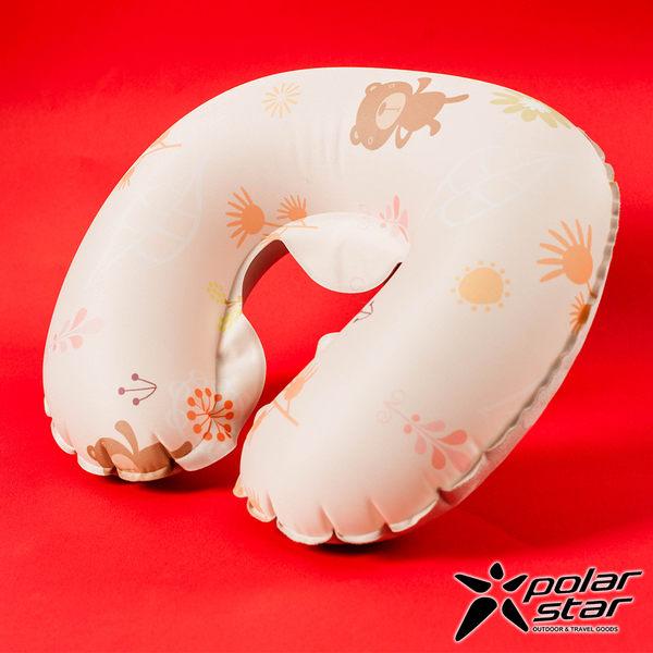 【PolarStar】旅行U型吹氣枕『粉紅』P17735 .露營.長途.午休.充氣枕.護頸枕.旅行枕.飛機枕.辦公室