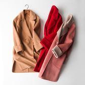 毛呢大衣-羊毛流行簡約翻領寬鬆女外套3色73op23[巴黎精品]