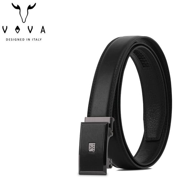 【橘子包包館】VOVA 真皮 時尚紳士簡約造型自動扣皮帶 VA008-002-GU 鎗色 自動扣皮帶