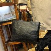休閒男士手提包斜背包側背包商務公事包時尚拿包【左岸男裝】