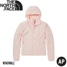 【The North Face 女 防風防曬外套《淺粉》】49B4/薄外套/連帽外套/防曬外套