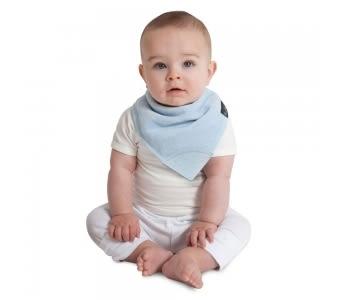 紐西蘭 Mum 2 Mum 機能型神奇三角口水巾咬咬兜-粉藍 吃飯衣 口水衣 防水衣