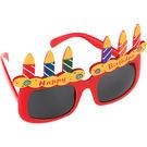 生日蛋糕眼鏡1入-紅