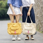 帆布包 單肩包女大包包女帆布包森繫學院風韓版手提包學生補課包 艾維朵