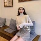 針織毛衣背心 秋款針織馬甲女小背心外搭復古V領學生韓版坎肩外穿毛衣馬甲 3色均碼