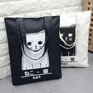 惡南宅急店【0017L】趣味貓 帆布袋 ...